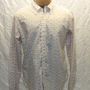 Guess Reverse Print Long Sleeve Size Xl Shirt